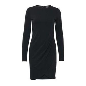 ICHI Little Black Dress Long Sleeve Crewneck